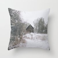 michigan Throw Pillows featuring Michigan by Stephanie Berezecky
