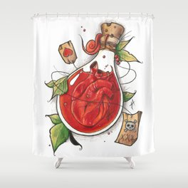 The thin line between love and hate. Shower Curtain