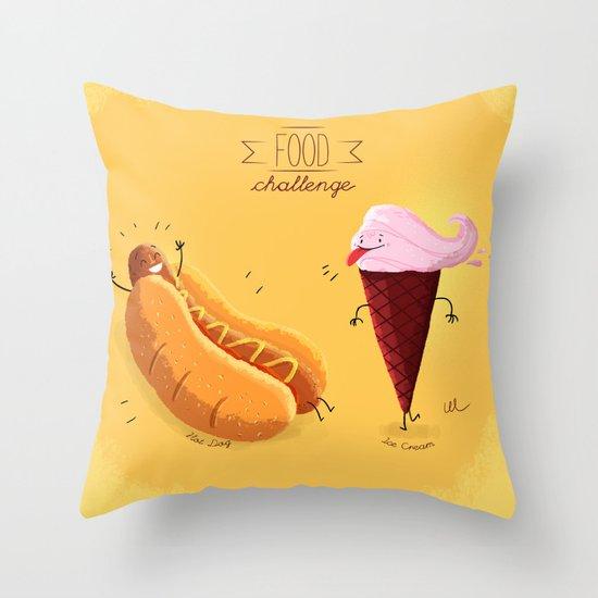 Food Challenge Throw Pillow
