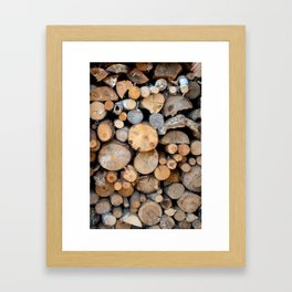 Perfect Woodpile Framed Art Print