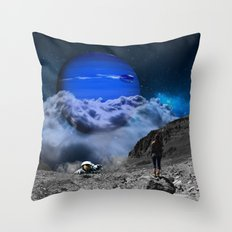 Escape from Blue Planet Throw Pillow