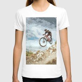 Flying Downhill on a Mountain Bike T-shirt