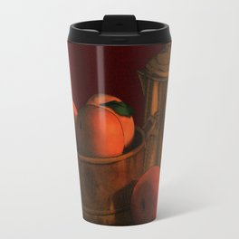 Still life with peaches Travel Mug