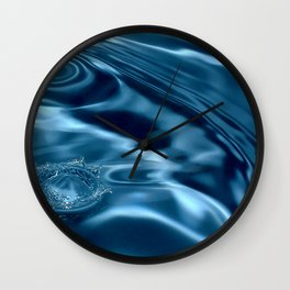 Deep Blue Drip Wall Clock