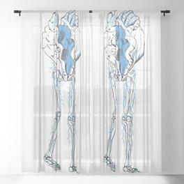 Walking Clam Sheer Curtain