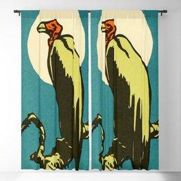 Vintage Animal Illustration of a Vulture Blackout Curtain