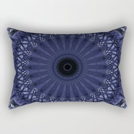 Mandala in grey and plum tones Rectangular Pillow