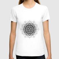 bali T-shirts featuring Wood + Bali Print by Faith Dunbar