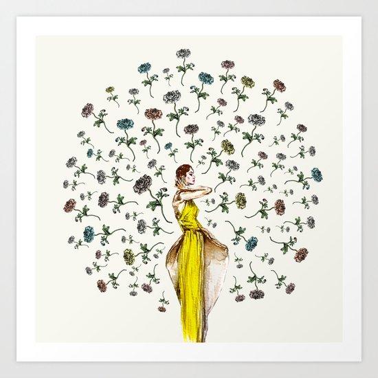 Paris Summer   The Flower Girl Art Print