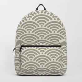 Gray Grey Alabaster Mermaid Scales Backpack