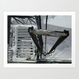 Snow & Iron Art Print