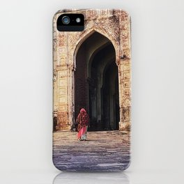 A Woman Enters Mehrangarh Fort in India iPhone Case