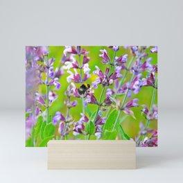 Be a Bee and be Free Mini Art Print