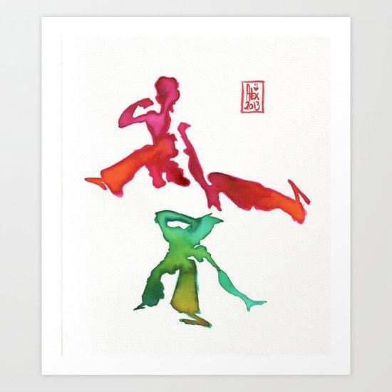Capoeira 245 Art Print
