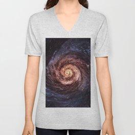 Spiral Galaxy Unisex V-Neck