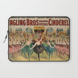 1896 Ringling Brothers Big Top Circus 'Dance of the Fairies' Vintage Poster Laptop Sleeve