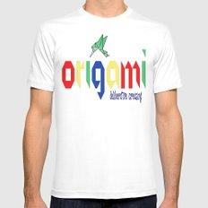 Origami: Deliberative Creasing Mens Fitted Tee MEDIUM White
