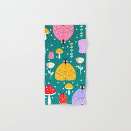 Bugs and mushrooms Hand & Bath Towel