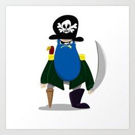 Bluebeard the Pirate, Scourge of the Seven Seas Art Print