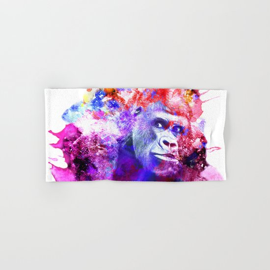 Gorillas are some of the most powerful and striking animals Hand & Bath Towel