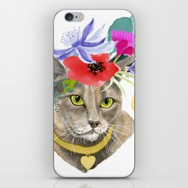 Miss Elsa - gray kitty iPhone Skin