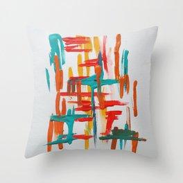 franklin study 1 Throw Pillow