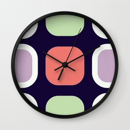 Blue Purple Lights On By Beebus Marble Wall Clock