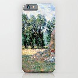 Claude Monet Haystacks iPhone Case