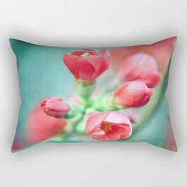 Textured Chaenomeles Japonica Rectangular Pillow