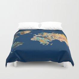World Map 11 Duvet Cover