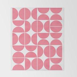 Mid Century Modern Geometric 04 Pink Throw Blanket