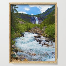 Geraldine Waterfall located in Jasper National Park, Canada Serving Tray