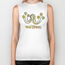 bloom where you are planted // waves and flowers Biker Tank