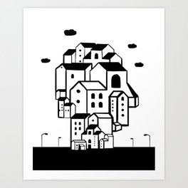 where is your home? Art Print