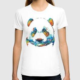 Colorful Panda Bear Art By Sharon Cummings T-shirt