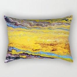 African landscape, acrylic on canvas Rectangular Pillow