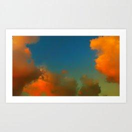 Orange and Blue Skies Art Print