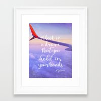 neil gaiman Framed Art Prints featuring Neil Gaiman, quotes, flight by Good vibes and coffee