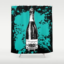 Champagne Explosion Shower Curtain
