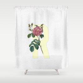 Letter 'R' Monogram Shower Curtain