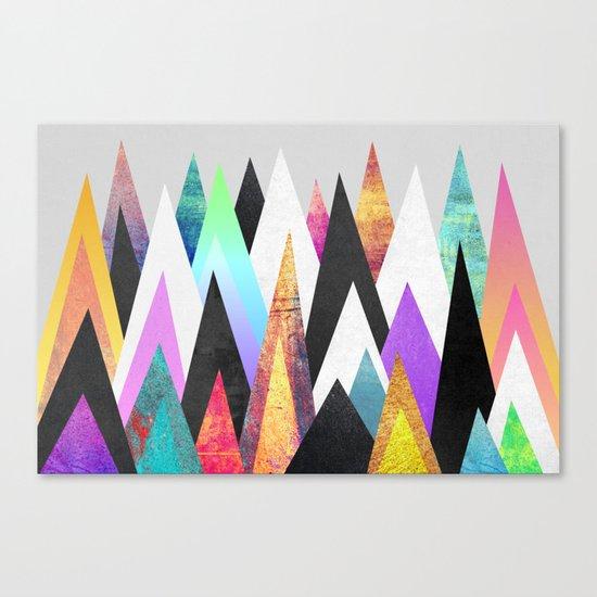 Colorful Peaks Canvas Print