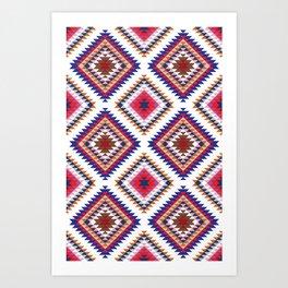 Aztec Rug Art Print