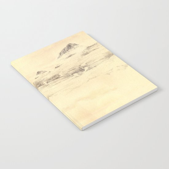 Egrets in Golden Morning Mist Notebook