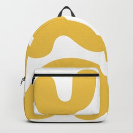 Mid Century Modern Organic Abstraction 337 Yellow Backpack