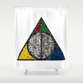 Shattered Hallows Shower Curtain