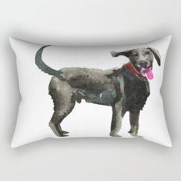 watercolor dog vol 16 silver labrador Rectangular Pillow