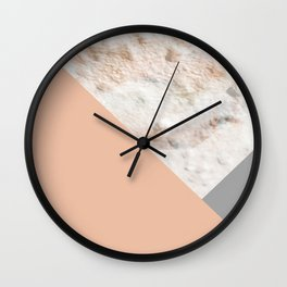 the wall or the moon Wall Clock