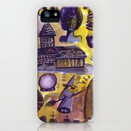 haunted house horror aesthetic pattern iPhone Case