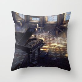 Seaside Ballroom Throw Pillow