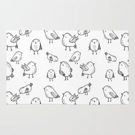 Flock Of Birds - White Rug
